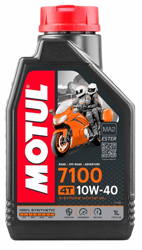 104080 Olio Motul 7100 4 Tempi 10W40 100% Synthese Ester- Ricambi e Accessori Moto