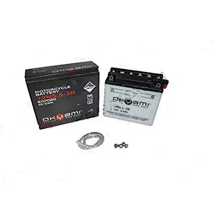 Batteria OKYAMI 12N5.5-3B 12V-6Ah- Ricambi e Accessori Moto