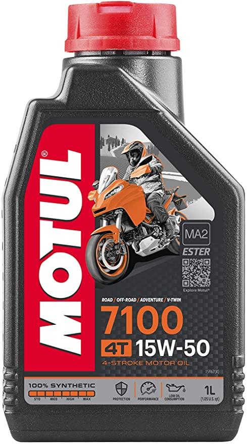 104298 Olio Motul 7100 4 Tempi 15W50 100% Synthese Ester- Ricambi e Accessori Moto