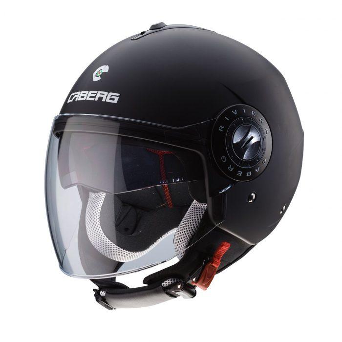 Casco Demi Jet Caberg Riviera V3 Matt Black - Abbigliamento e Accessori Moto