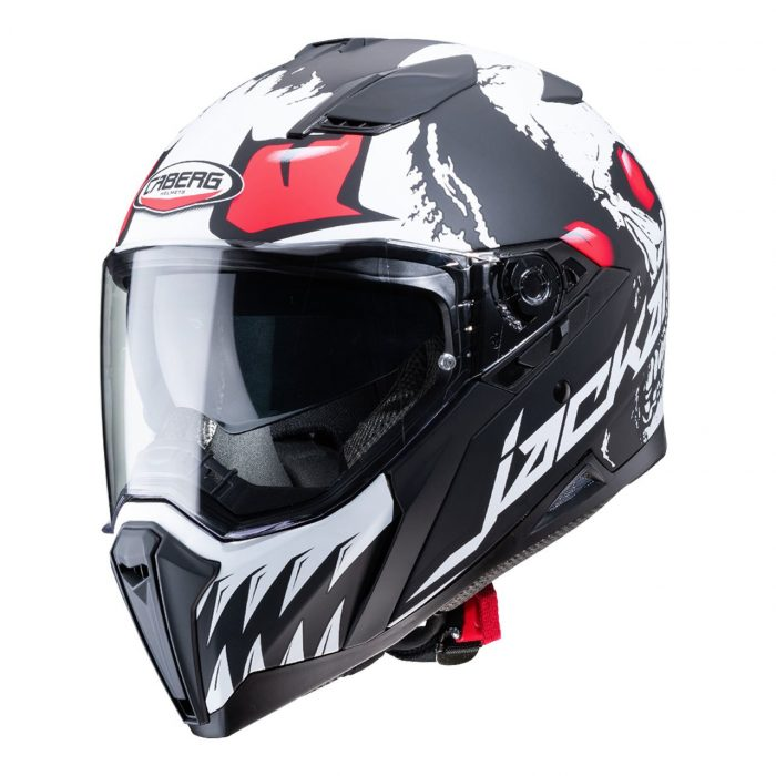 Casco Integrale Caberg Jackal Darkside Matt Black White - Abbigliamento e Accessori Moto