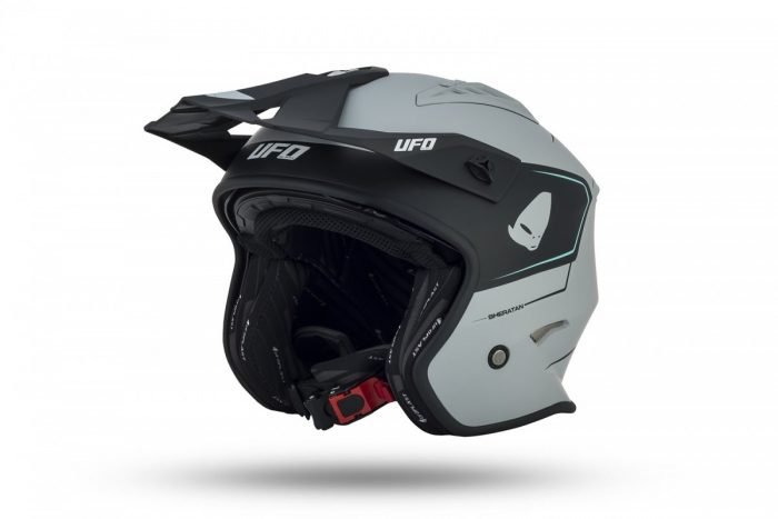 Casco Jet Ufo Trial Sheratan Grigio Opaco Caschi e Accessori Moto