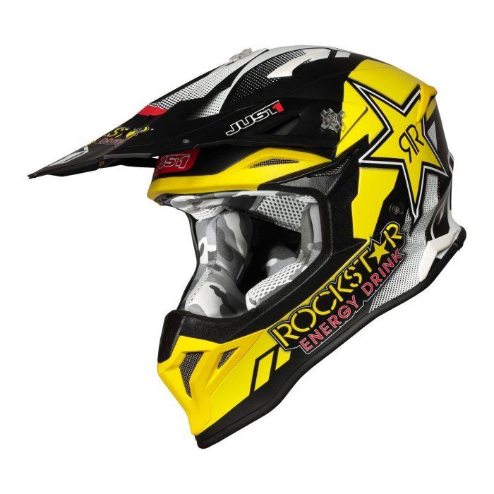Casco Motocross Just1 Rockstar J39 - Abbigliamento e Accessori Moto