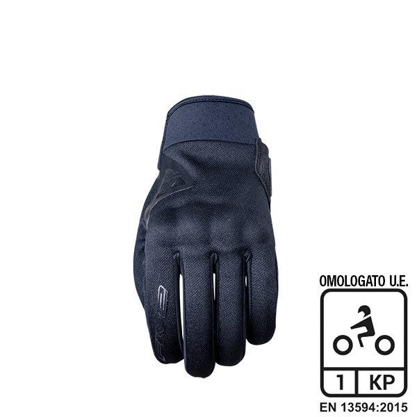 Guanti Moto Estivi Tessuto Five Globe Nero Abbigliamento e Accessori