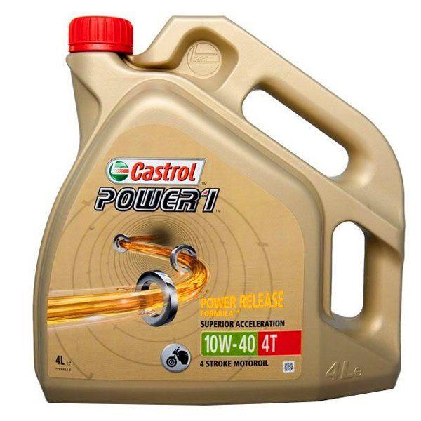 Olio Castrol Power1 10W-40 4T Confezione 4 Litri Ricambi e Accessori Moto