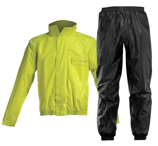 Antipioggia Moto Divisibile Giallo Nero Acerbis Logo Abbigliamento e Accessori