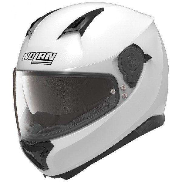 Casco Integrale Nolan N87 Special Plus N-Com Bianco Puro Abbigliamento e Accessori
