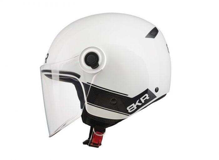 Casco Demi Jet BKR Xpresso Solid White