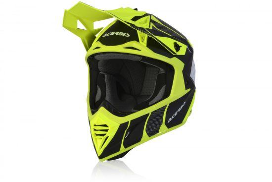 Casco Motocross Acerbis X-TRACK VTR Fibra Nero Giallo Fluo- Abbigliamento e Accessori