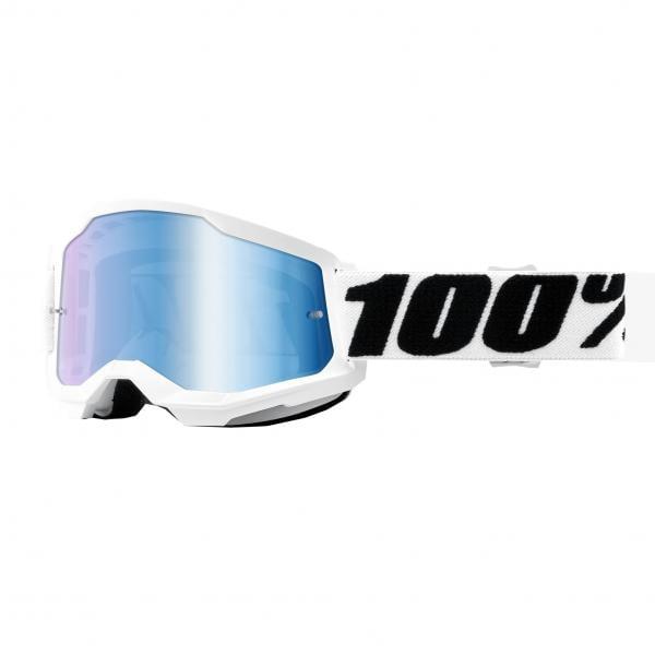 Maschera Cross 100% The Strata 2 Bianco Blu - Abbigliamento e Accessori