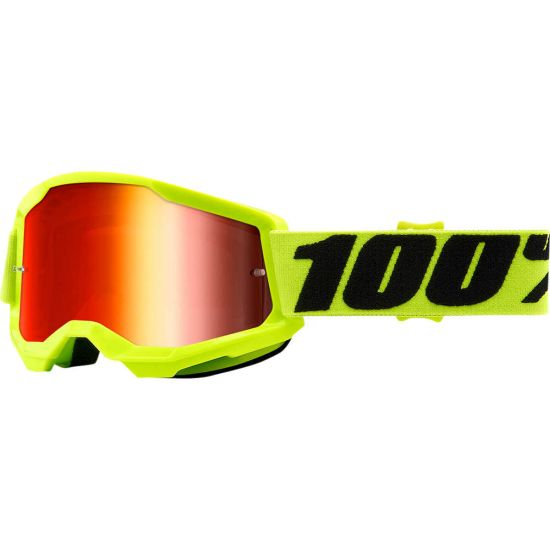 Maschera Cross 100% The Strata 2 Yellow Red - Abbigliamento e Accessori