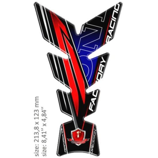 Adesivo Paraserbatoio Resinato Print Tipo Honda - Ricambi e Accessori Moto