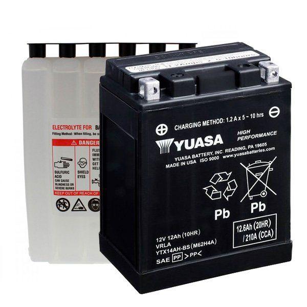Batteria Yuasa YTX14AH-BS C/Acido - Ricambi e Accessori Moto