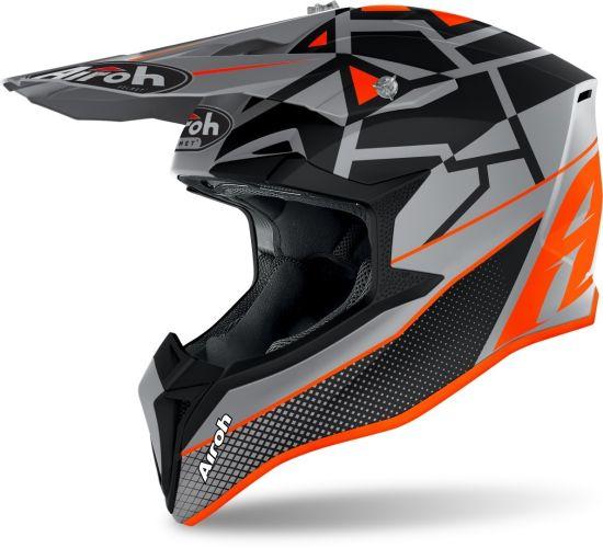 Casco Motocross Airoh Wraap Mood Orange Matt - Abbigliamento e Accessori
