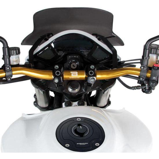Manubrio Moto Barracuda Racing in ergal D.22 - Ricambi e accessori Moto