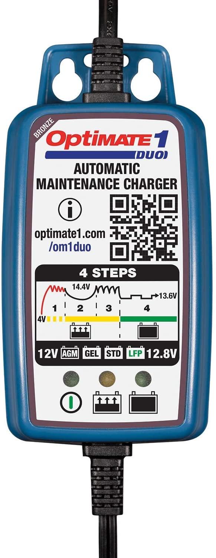 Caricabatteria Mantenitore di carica TecMate Optimate1 DUO - Ricambi e Accessori Moto