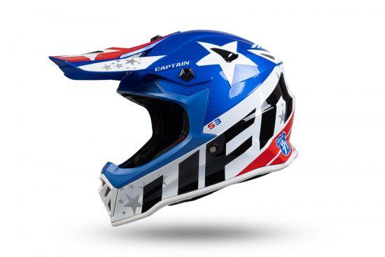 Casco Motocross Ufo Bambino Captain Glossy - Abbigliamento e Accessori