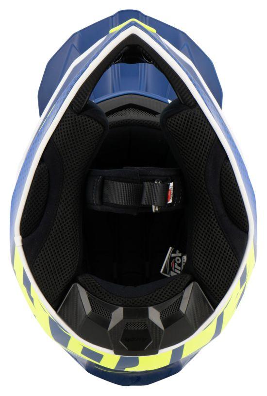 Casco Motocross Airoh Wraap Mood Blue Gloss - Abbigliamento e Accessori
