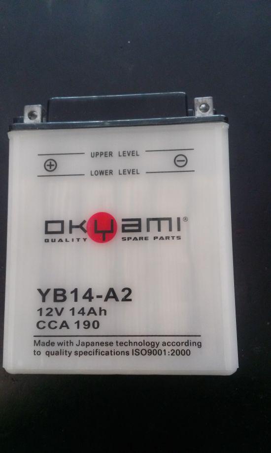 Batteria OKYAMI YB14-A2 12V 14Ah- Ricambi e Accessori Moto