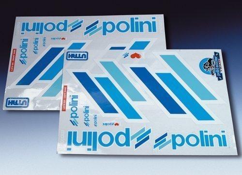 225.031 Adesivi kit TEAM POLINI SCOOTER DX-SX Contorno Bianco- Ricambi e Accessori Moto