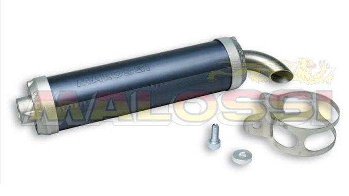 3212309 Silenziatore Malossi Allum. Imbocco D.60 per Scarico MHR Replica- Ricambi e Accessori Moto