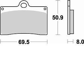 Pastiglie Braking Semi Metallic 688SM1- Ricambi e Accessori Moto