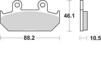 Pastiglie Braking Semi Metallic 690SM1- Ricambi e Accessori Moto