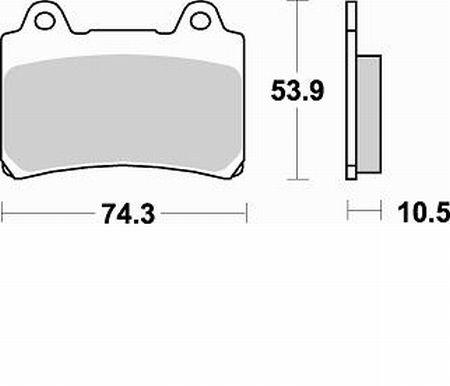 Pastiglie Braking Semi Metallic 692SM1- Ricambi e Accessori Moto