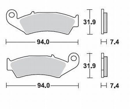 Pastiglie Braking Semi Metallic 700SM1- Ricambi e Accessori Moto