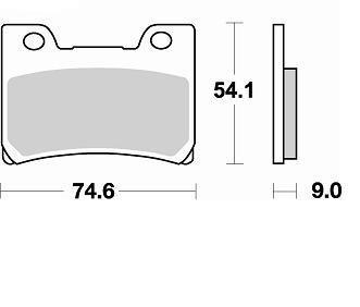 Pastiglie Braking Semi Metallic 751SM1- Ricambi e Accessori Moto