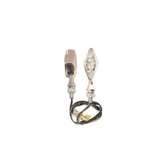 Frecce One Led omologate in Metallo Cromato- Ricambi e Accessori Moto
