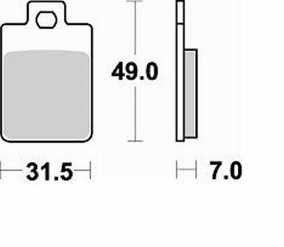 Pastiglie Braking Semi Metallic 805SM1- Ricambi e Accessori Moto