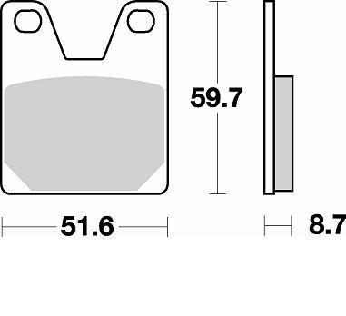 Pastiglie Braking Semi Metallic 826SM1- Ricambi e Accessori Moto