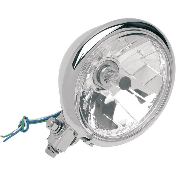 Fanale Anter. Drag Specialties Diamond Style Cromato OMOLOGATO- Ricambi e Accessori Moto