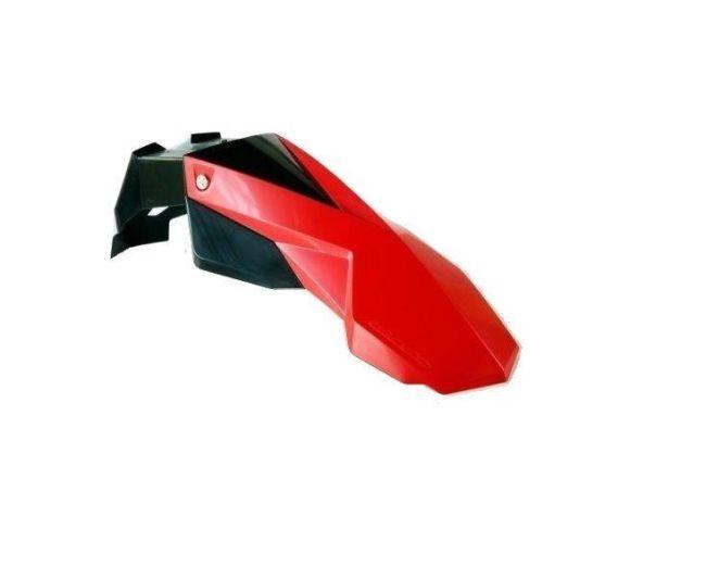 Parafango Ant. Circuit Supermoto  Universale colore Nero-Rosso- Ricambi e Accessori Motocross Motard
