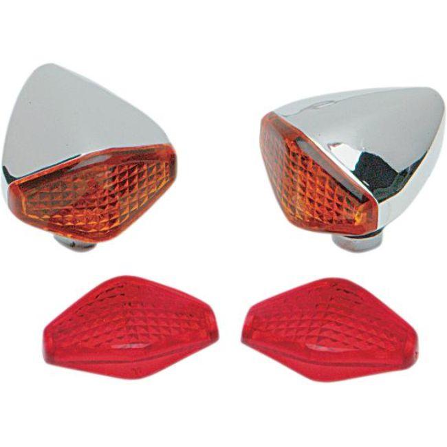Frecce cromate DIAMON LIGHTS Drag Specialties- Ricambi e Accessori Moto