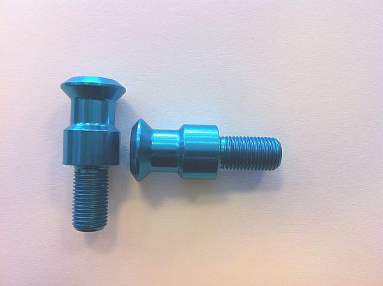 Nottolini Lightech Alluminio Blu filetto M 12 x 1.25- Ricambi e Accessori Moto