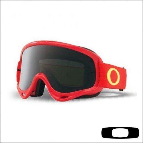 Maschera Cross OAKLEY O FRAME MX Red, lente Dark/Grey- Abbigliamento e Accessori Moto Motocross