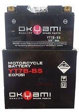 Batteria OKYAMI YT7B-BS 12V 6.5AH- Ricambi e Accessori Moto