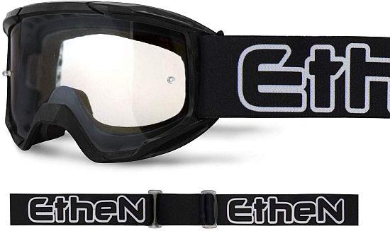 Maschera Cross ETHEN OTG06 Basic colore Nero lente trasparente- Abbigliamento e Accessori Moto Motocross
