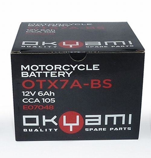 Batteria OKYAMI OTX7A-BS- Ricambi e Accessori Moto