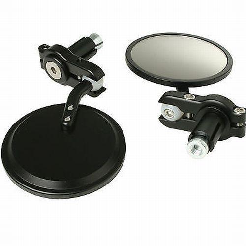 Coppia Specchietti colore Nero  con attacco nel Foro Manubrio- Ricambi e Accessori Moto