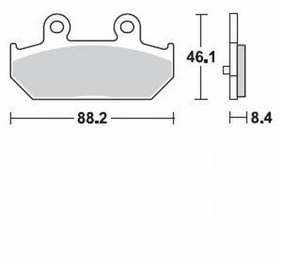 Pastiglie Braking Sinterizzate P30896- Ricambi e Accessori Moto