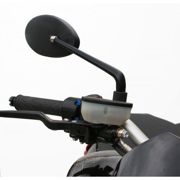 Specchietto Moto Far Sinistro Ovale Nero Universale - Ricambi e Accessori Moto