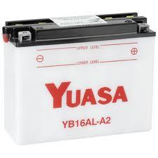 Batteria Yuasa YB16AL-A2 12v 16ah- Ricambi e Accessori Moto