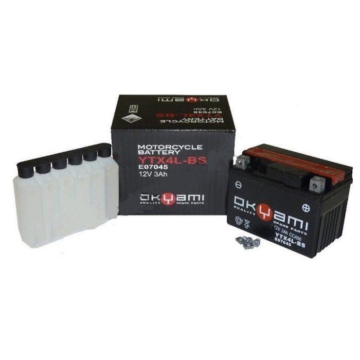 Batteria OKYAMI OTX4L-BS- Ricambi e Accessori Moto