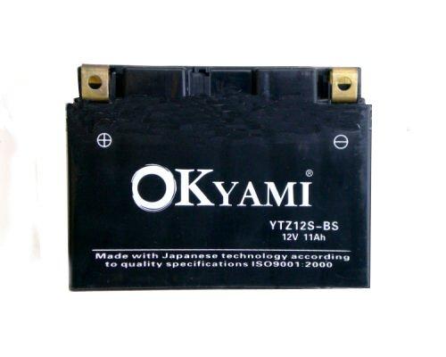 Batteria OKYAMI YTZ12S-BS 12v 11ah- Ricambi e Accessori Moto