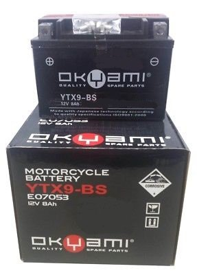 Batteria OKYAMI OTX9-BS- Ricambi e Accessori Moto