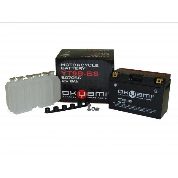 Batteria OKYAMI YT9B-BS 12V 8AH- Ricambi e Accessori Moto