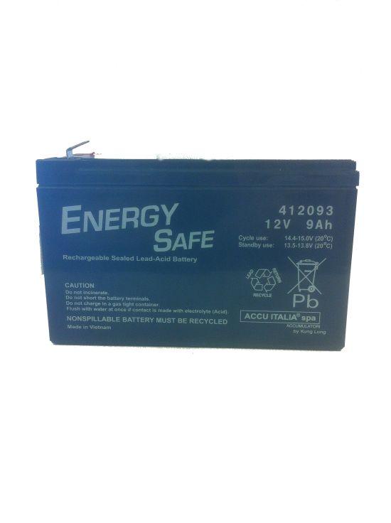 Batteria Energy Safe 412093 Sigillata 12V 9Ah- Ricambi e Accessori Moto